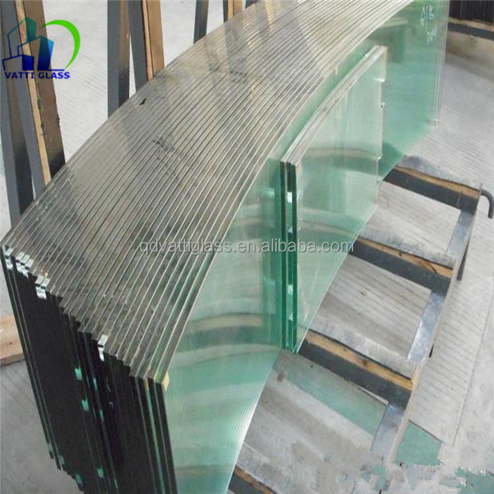 Supply 6mm+0.38mmpvb +6mm flat&curve heat soaked toughened tempered laminated glass with CE&ISO/CCC