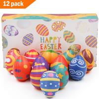 12 Pack Squishy Easter Hunt Egg Toys As Party Favor Novelty Gifts Slow Rising Stress Relief Balls Easter Egg Hunt