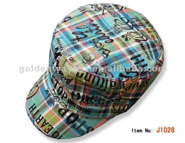 fashion cotton army side caps baggy caps in blue color