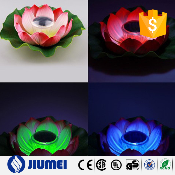 the river decoration waterproof lotus flower led light