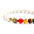 Imported white turquoise stone bracelet with gold buddha