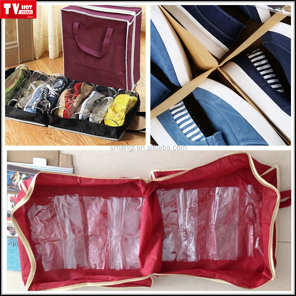 AS SEEN ON TV Shoe tote stores & protects up to 6 pairs of shoes