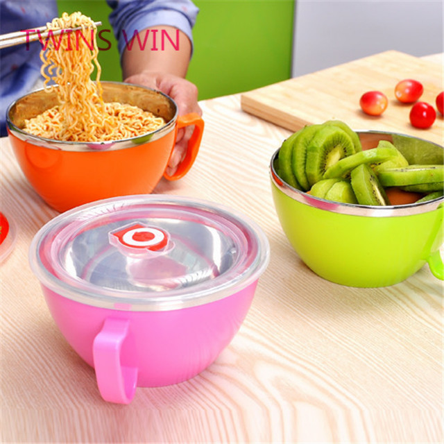 Hot New kitchen home products bulk wholesale Heat Resistant cartoon colorful stainless steel lunch boxes bento for children 056