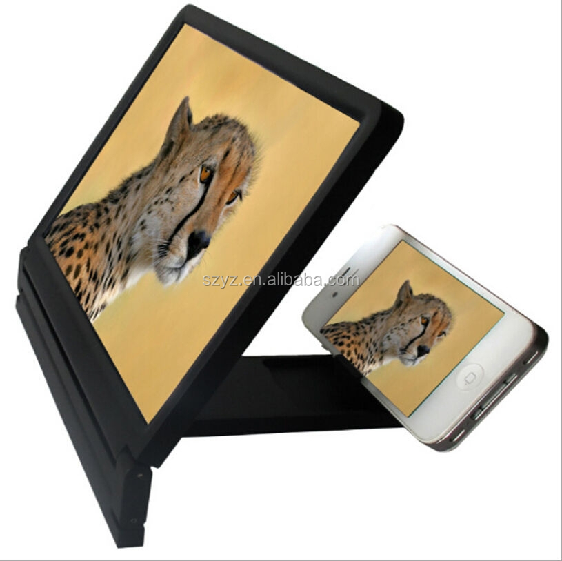 New Promotional Gifts Portable Mobile Phone Screen Magnifier/3D glass for phone
