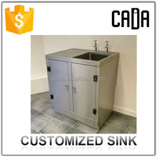 direct china manufacturer low price guangzhou factory free standing scrub sink