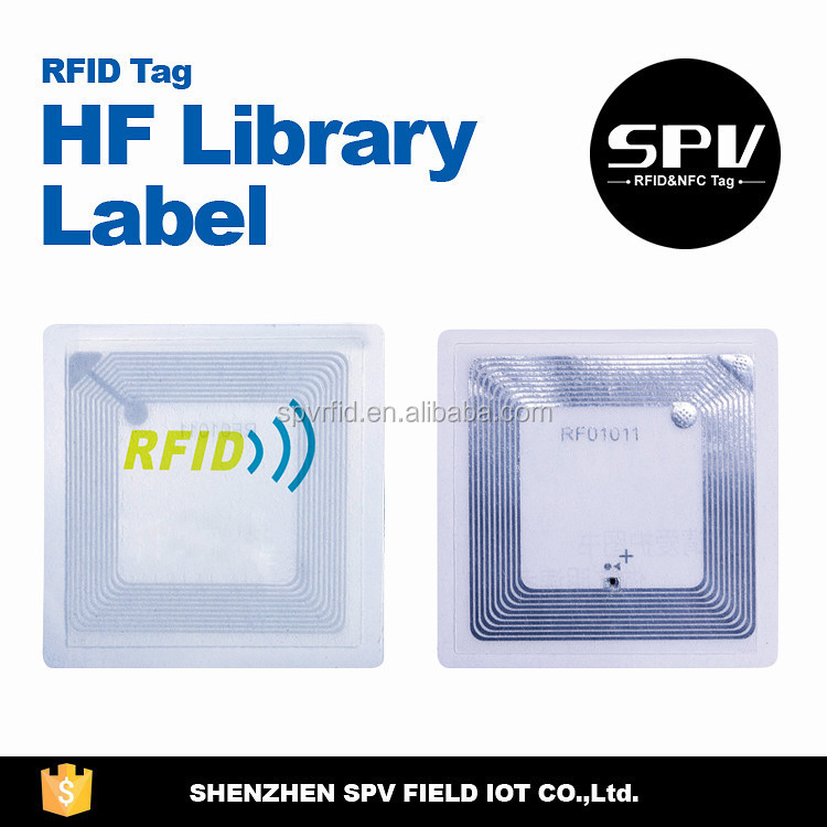 RFID UHF Library Sticker label Tag for borrowing book System Management