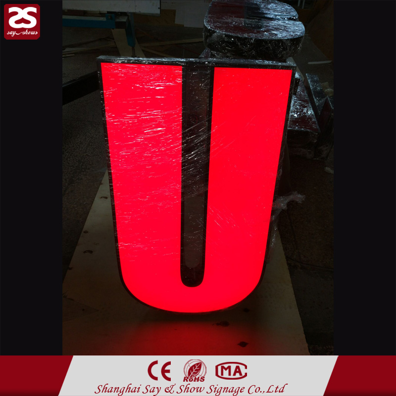 Top sale waterproof led luminous frontlit logo custom alphabet letters