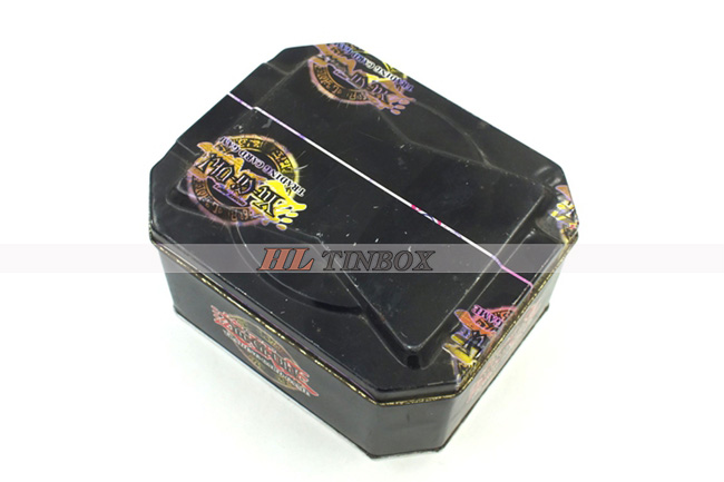 Rectangular Metal Tin Box for Children's Game Card Packaging