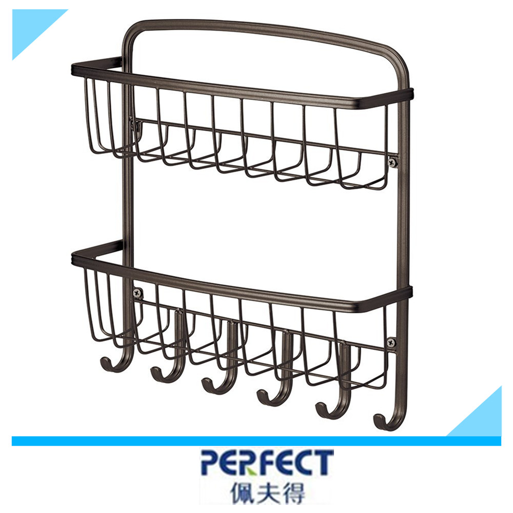 Metal Mail Shelf With Key Hooks Decorative Wall Mount