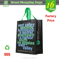 High Quality Custom design full color printing reusable shopping tote bag