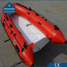 Fiberglass Hull CE Certification PVC semi rigid inflatable boat in hot sale