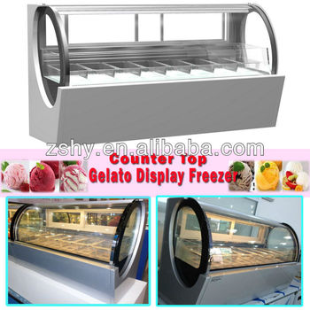 countertop ice cream freezer with 6 pans