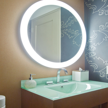 Color dimmable LED lighting round wall mirror