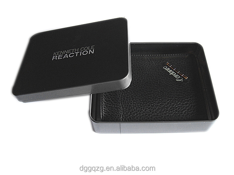 customize wallet tin box with inner tray
