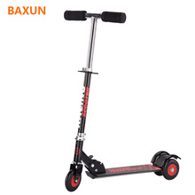 China Supplier Iron Adjustable T-bar 3 wheel dual pedal cheap kids scooter