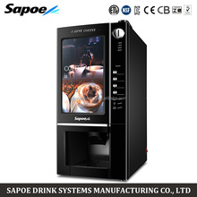 Sapoe table top coin operated instant hot cold coffee vending machine sapoe for repair center