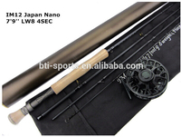 Saltwater fishing rod made by high carbon fly rod blank