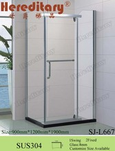 Simple Design Rectangle Portable Corner Sector glass Shower Enclosures