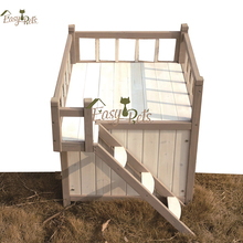 High Quality Classic Pitched Roof Pet New Indoor / Outdoor Wooden Dog House Cabin Kennel
