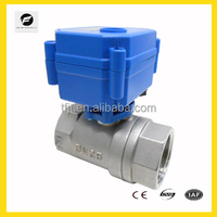 "CWX-15N 1"" DC24V SS304 Mini dimension motor Ball Valve For HAVC Automatic Control"