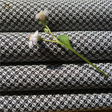 300D*300D Polyester Black And White Yarn Dyed Woven Diamond Line Jacquard Beauty New Fashion Garment Fabric Dress Cloth