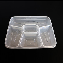 One Time Use Freshness Preservation Food Container,Convenient Portable Clear Rectangle Plastic Lunch Box