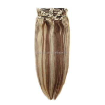 Indidan Remy Full Head Clip in Human Hair Extension