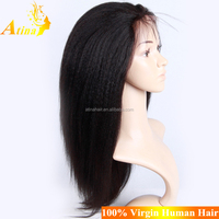 Cheap Malaysian Full Lace Wig With Silk Base Top 100% Human Hair Light Yaki Wig Natural Hairline With Baby Hair For Black Women