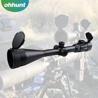 Zos Riflescope 10-40X60 Red Illuminated Reticle Hunting Optics Air Rifle Scopes With Scope Mount