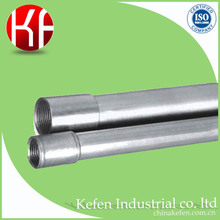 BS standard galvanized type of electrical pipe