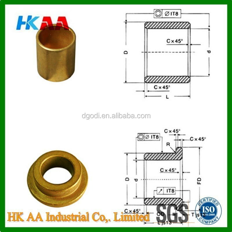 OEM manufacture Oil sintered bronze/iron bushing Starter bushing,starter bronze bush bearing