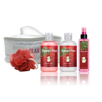 Beautiful Natural Bath Spa Gift Set with Shower Gel Body Lotion and fragrance mist OEM Supply Gift Set