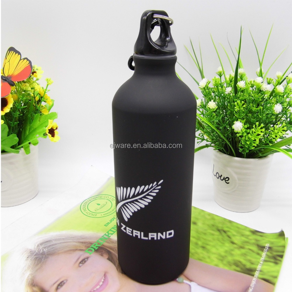 2016 art matte sport water aluminum sport bottle black aluminum bottle