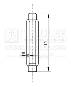 6306-DIN1480 Galvanized Body Only of Turnbuckle