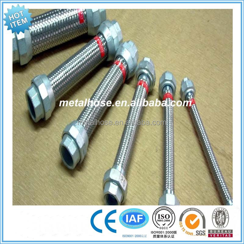 High temperature resistance High quality SS304 braided flexible metal vacuum hose/pipe /tube
