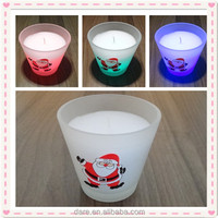 Light sensitive battery powered christmas window candles
