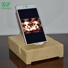 Wood Phone Stand Docking Station, Smart Phone Wood Dock, Desk Accessories