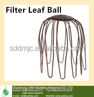 Long lasting easy installation aluminum gutter accessories---- filter leaf ball