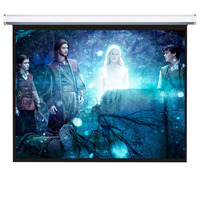 4:3 Wall Mounted Motorized Projector Screen