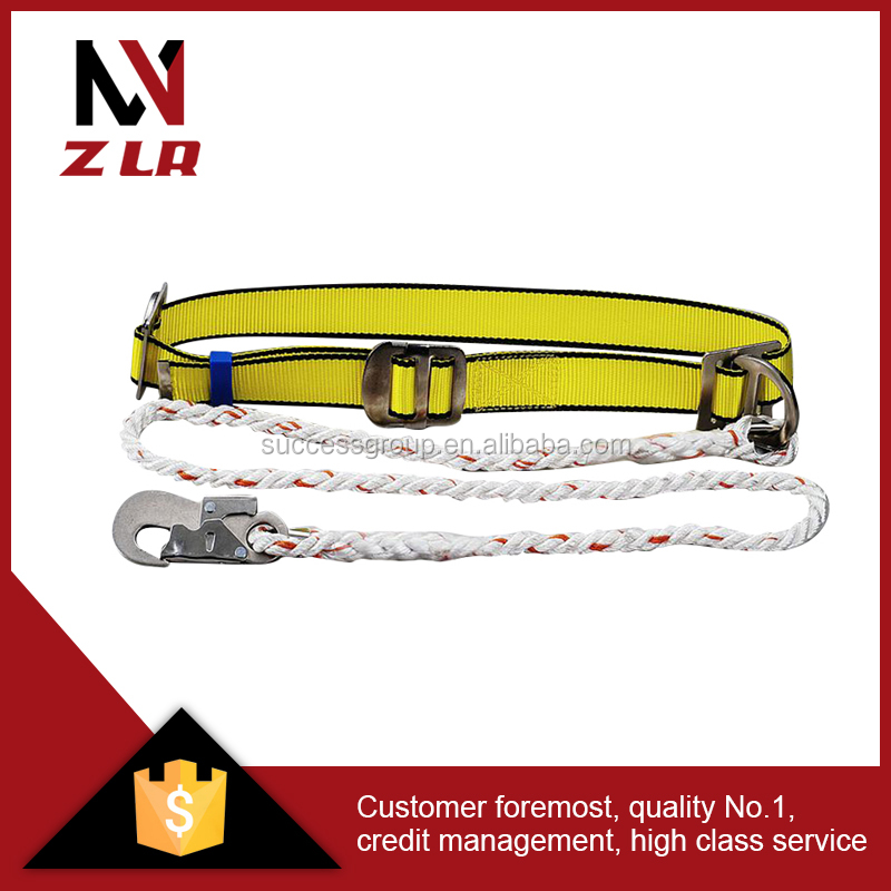 Construction safety waist belt with hook