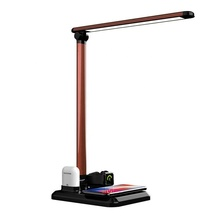 Folding touch led eye-protection table lamp Qi Wireless charging led desk lamp Dimming With USB port
