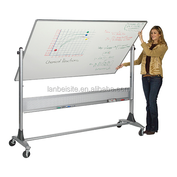 Hot sell! Removable double-sided whiteboard with easel