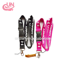 Fashion keychain silkscreen printing lanyard with custom logo