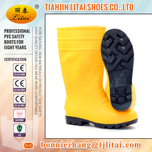 High quality CE 2016 anti-hit cheap PVC safety rubber boots