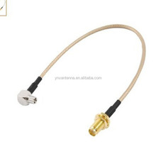 Manufacturer Supply 35cm Length Cable , Pigtail Cable CRC9 To SMA , RF Pigtail Cable With SMA Female Connector