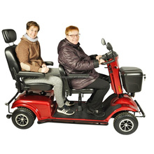 double seat electric scooter two people mobility scooter
