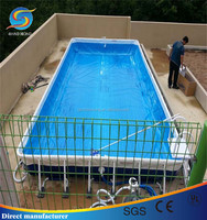 Portable Metal Frame Supported Swimming Pool for Water Park