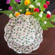 New Custom Christmas Paper Decoration Lace Doily/doyley Pattern Red/Green Printing Paper Doilies with All Inches