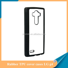 2D sublimation TPU+PC phone case with metal sheet for LG G4