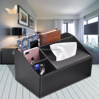 gift promotion luxury leather mdf tissue box for car,office,hotel,living room